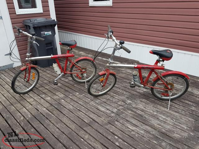 2 fold away compact bicycles