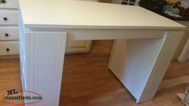 Large White High Desk