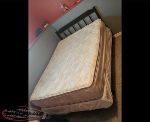 DOUBLE MATTRESS, BOXSPRING, HEADBOARD & BEDFRAME