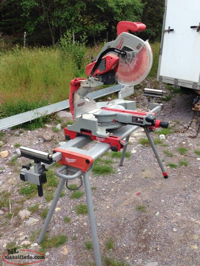 "12"" Milwaukee Compound.miter saw and stand"