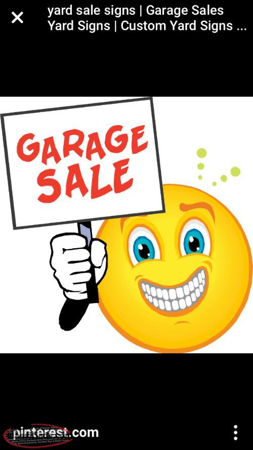 Large Yard Sale, SATURDAY ONLY, 8 am to 5 pm