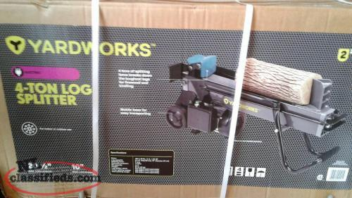 4 Ton electric woodsplitter New In Box, never opened