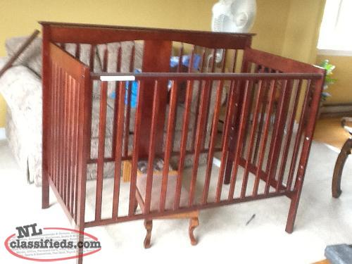 Cherry wood Baby Crib