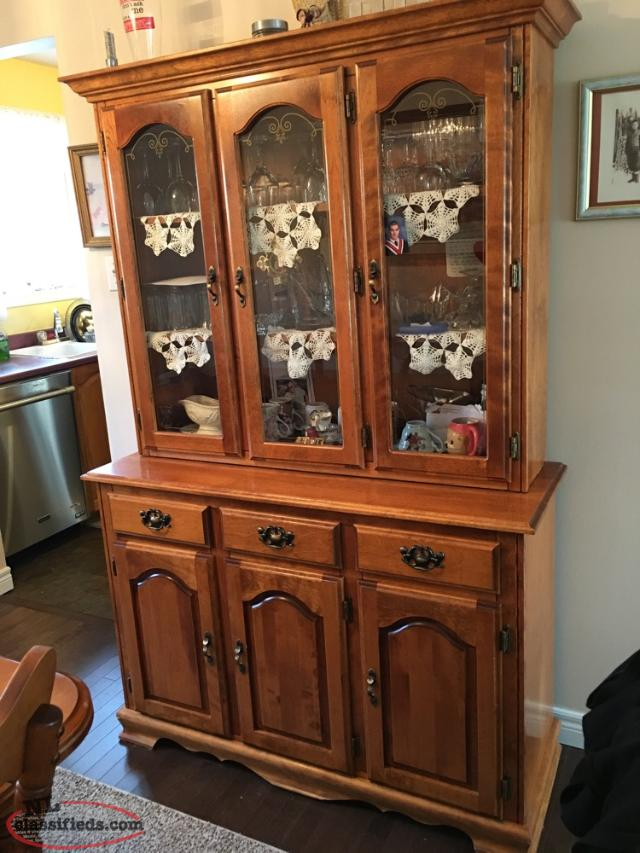 Dining room table and buffet hutch set conception bay for Dining table and hutch set