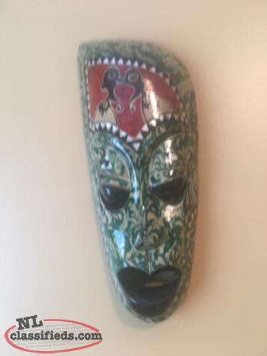 Wall Decor- Wooden Mask