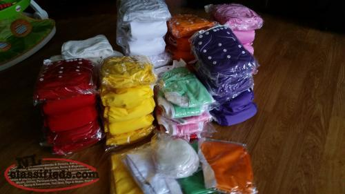New cloth diapers