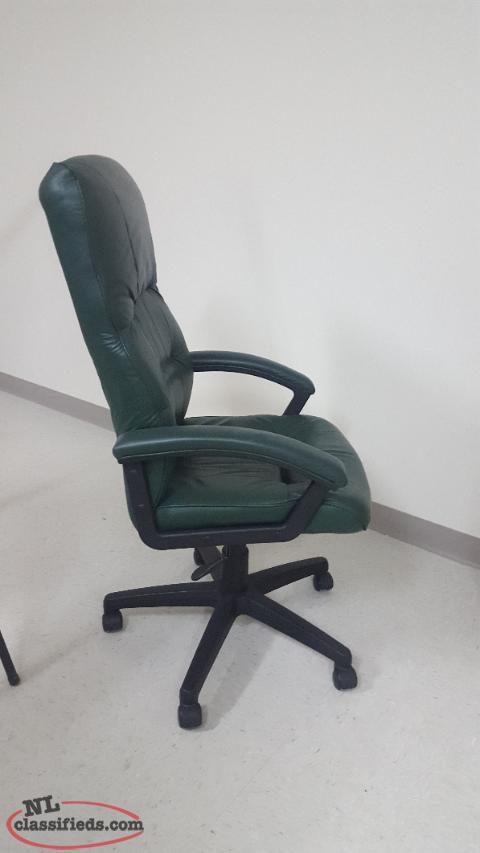 Office chair-Leather high back executive