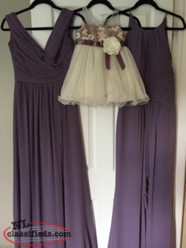 Bridesmaids flower girl and Mother of the Bride dress