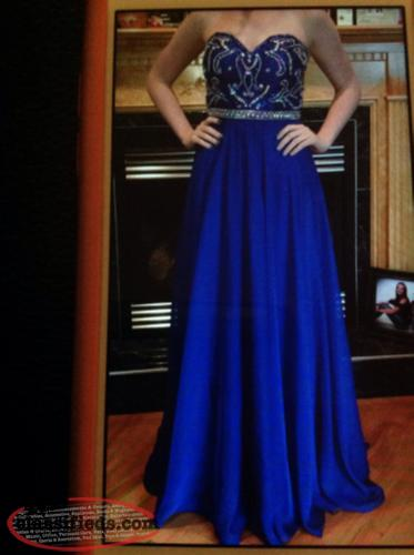 Grad dress royal blue