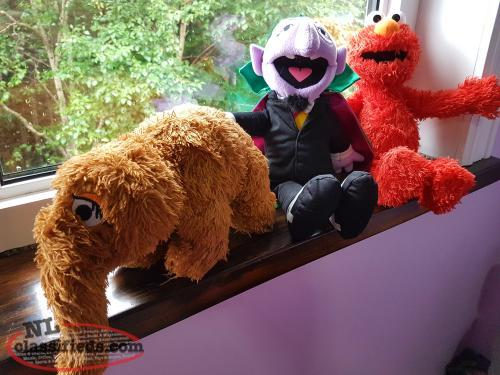 3 Sesame Street Characters