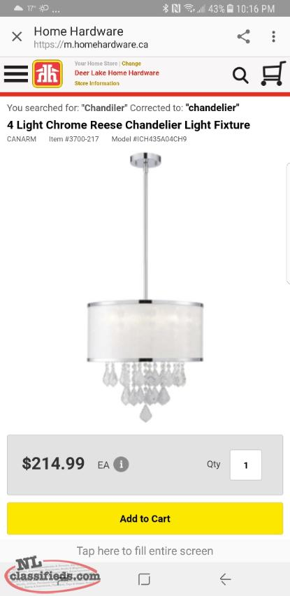 Chandelier for sale.