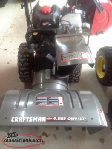 2009 craftsman 9 5 hp 27 cut newfoundland for Craftsman 17 5 hp motor