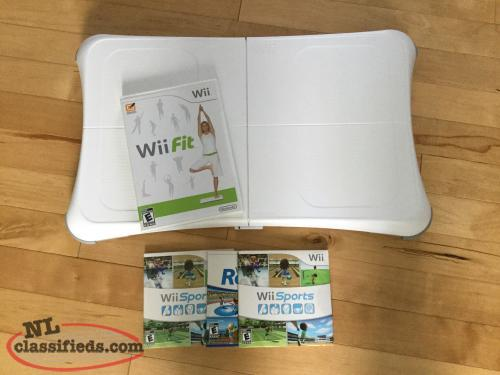 Wii Fit Board and games. Like New...$30.00f