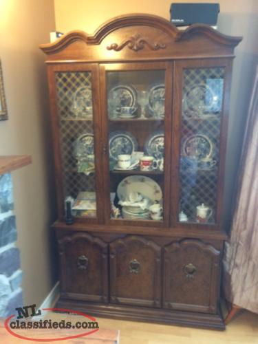 Queen Anne Table, charies, and China Cabinet