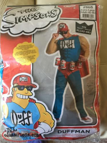 The Simpsons Duffman Costume, Size XL 42-46