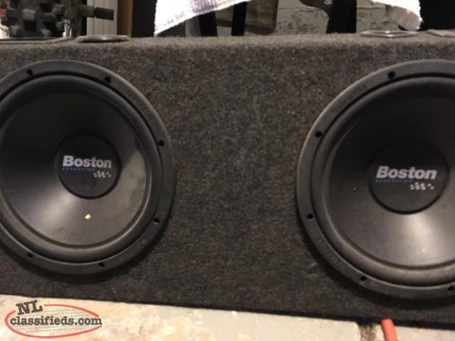 "Two 10"" Subwoofers And Slim Box"