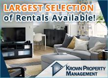 Rentals available! The biggest selection of houses and apartments!