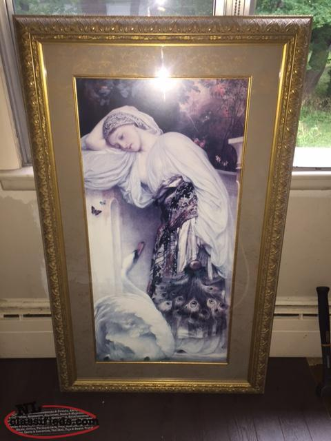 Statement Painting with Custom Frame