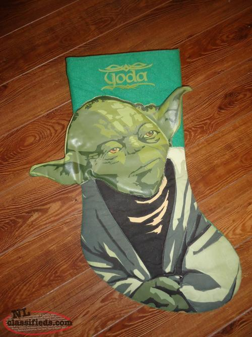 Yoda Christmas Stocking, Yoda Christmas Hat