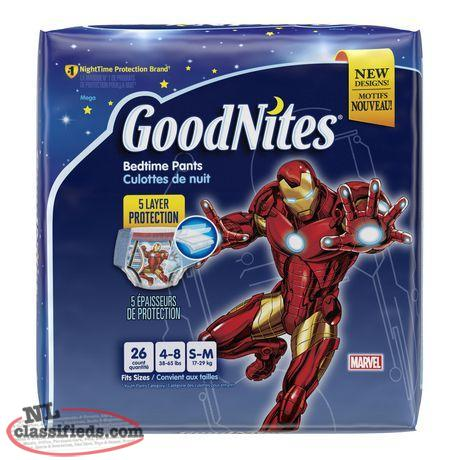NEVER OPENED, 1/2 Price, -GoodNites Mega Pack Iron Man-Small to Medium