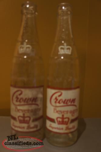 Grand Falls Crown Beverages Soda Bottles