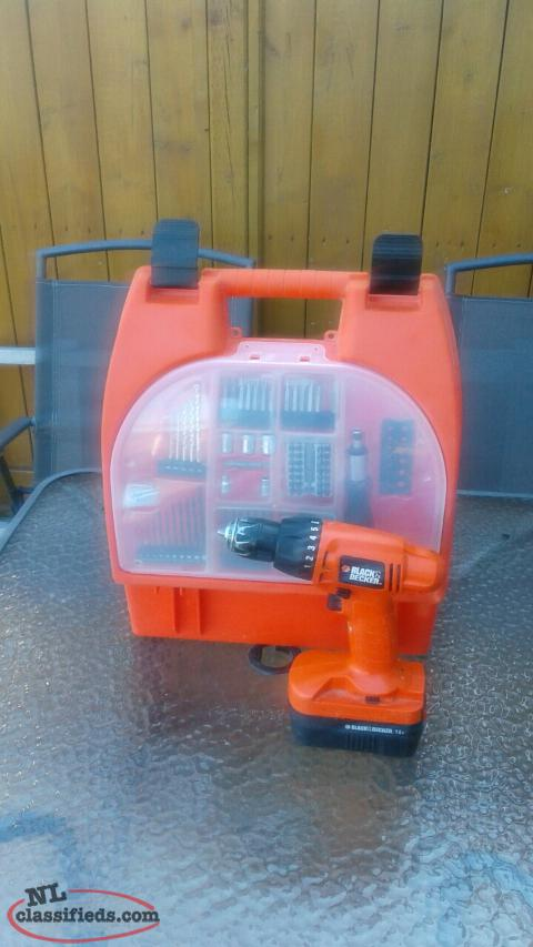 For Sale 18V Blacker and Decker Rechargeable Drill Set