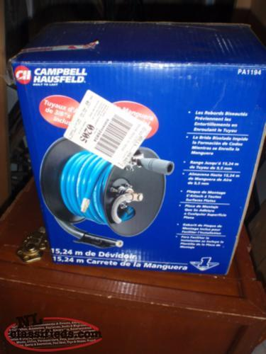 reel and air hose NEW