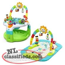 Bright Starts exersaucer and playmat