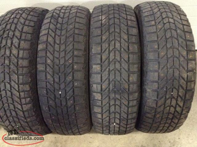 P195/65R15 Firestone Winterforce Studded Snow Tires