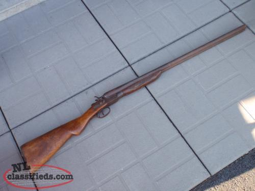 antique muskets and double barrel