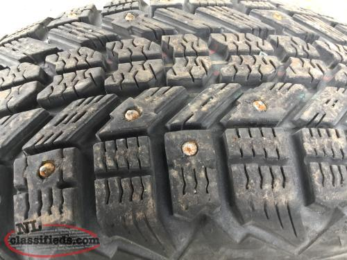 2 only-185 60 15 FIRESTONE WINTERFORCE studded
