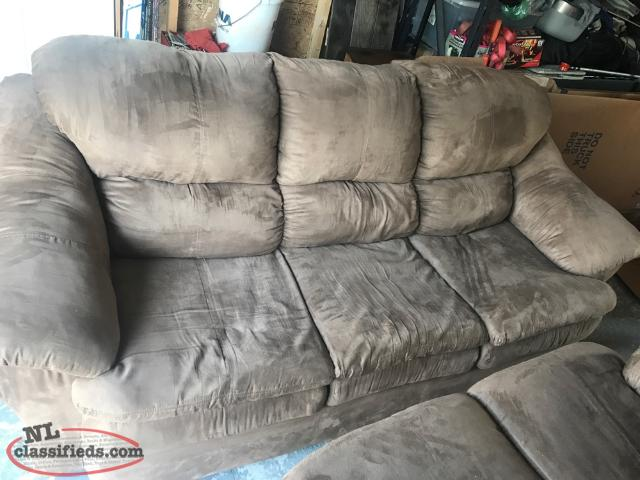 Microfiber Couch And Love Seat. Great Shape