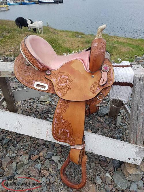 "One of a kind 15"" Barrell Saddle"