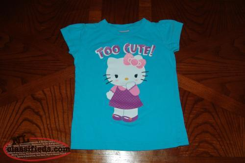 Hello Kitty Girls Top / T Shirt Size 5