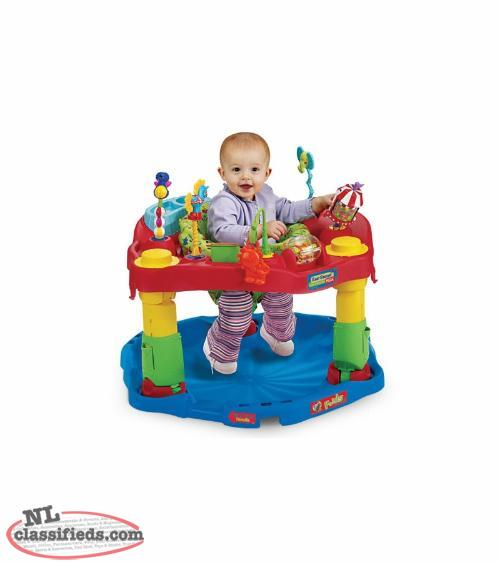 Circus Fold-n-go Exersaucer - Unisex,Folds,Heights,Washable, Snack tray