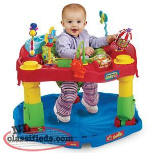 Fold-n-go Circus Exersaucer-Unisex,3 Heights,Snack Tray, etc