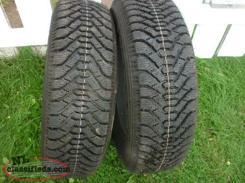 2 14IN. GOODYEAR NORDIC WINTER TIRES P195/70R14 - BRAND NEW TIRES