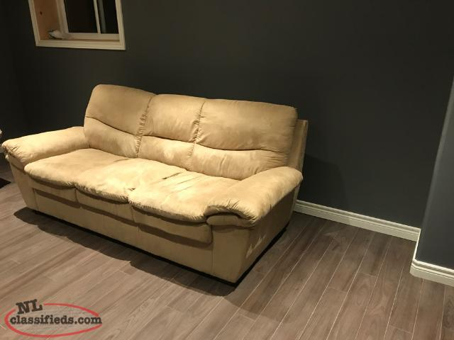 Couch And Love Seat, Love Seat Damaged
