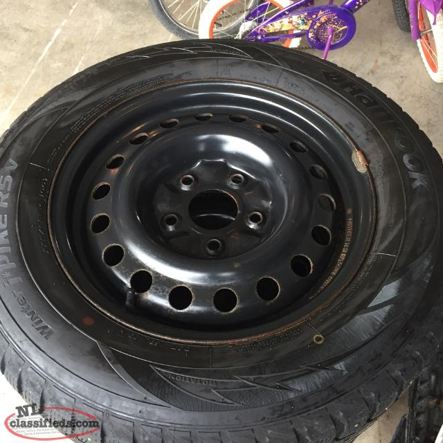 225/65/16 Studded Winter Tires and Rims