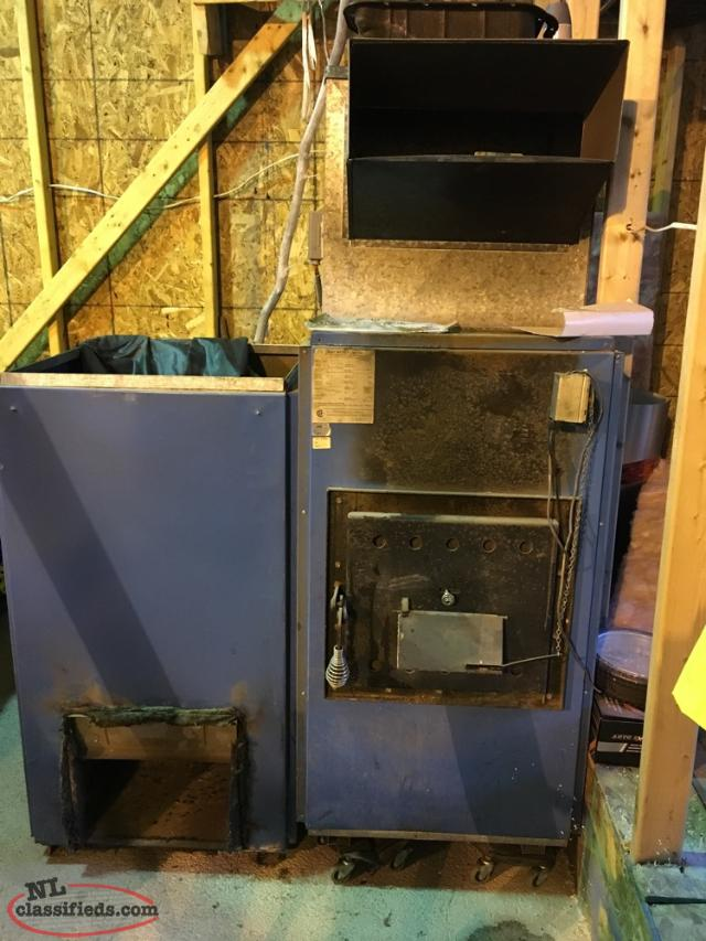 Oil And Wood Furnace. Great Condition