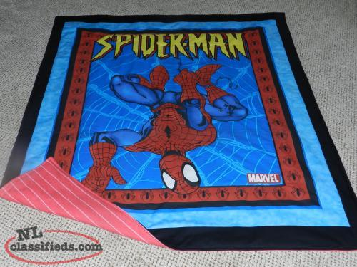 for sale a New Spiderman quilt with flannelette backing