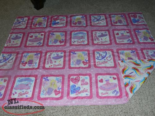 for sale a New Barbie Quilt with 100% cotton Barbie backing