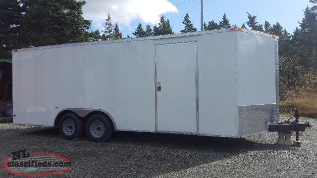 2014 20' V-nose enclosed cargo trailer