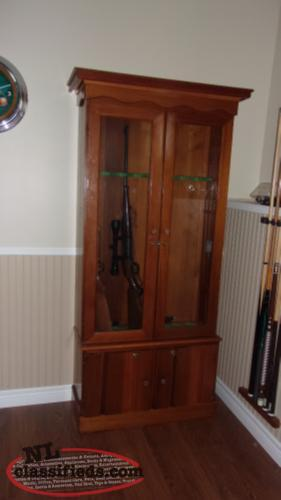 For Sale Wooden Gun Cabinet