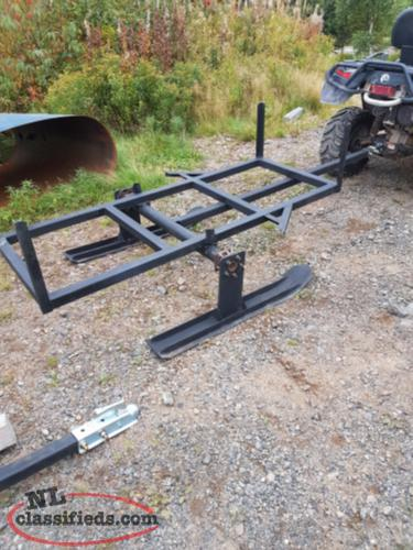 Atv woods trailer and skis