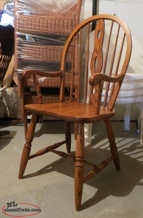 Solid Oak Arm Chair