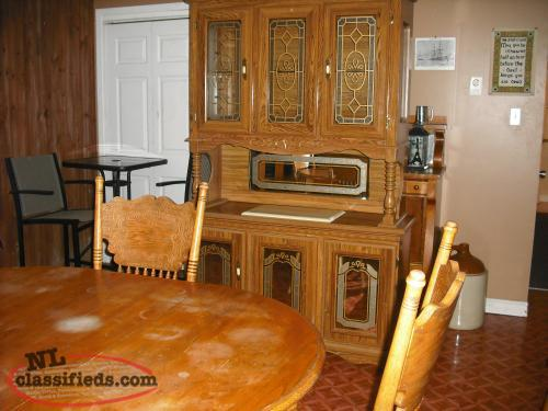 buffet and hutch plus dining room table and 4 chairs