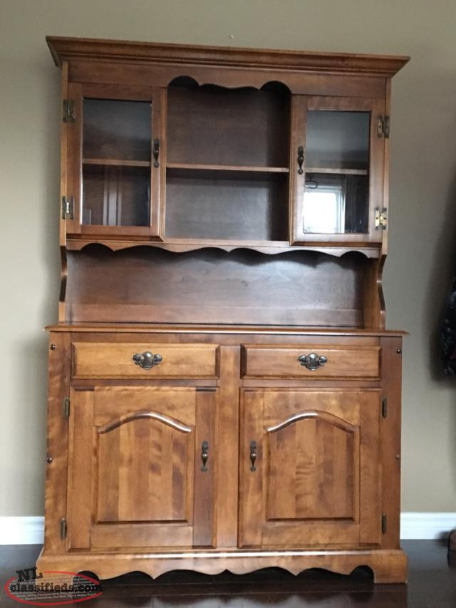 table set buffet and hutch for sale birchy bay newfoundland labrador nl classifieds. Black Bedroom Furniture Sets. Home Design Ideas