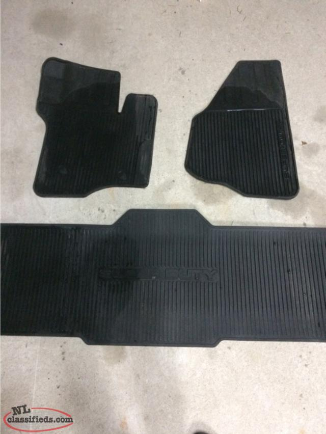 2011-2016 F250 Super Duty Rubber Floor Mats