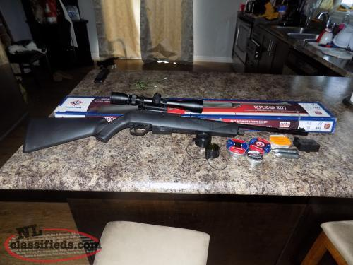 Crosman REPEATair 1077 CO2 with Swiss Army Scope Like new